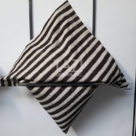 Brown Stripe Wool Cushion