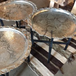 Vintage Moroccan Silver Trays
