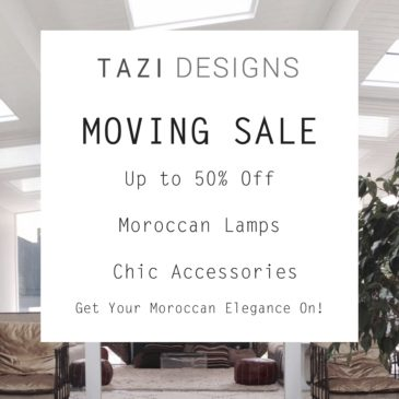 Tazi is Having a Moving Sale!