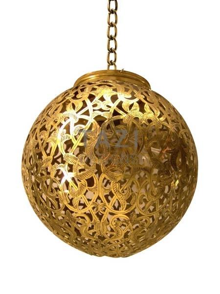 Moorish Lamp – Sphere Light 12 Gold