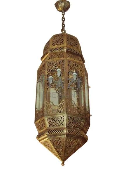 Moroccan Brass Lantern 0110