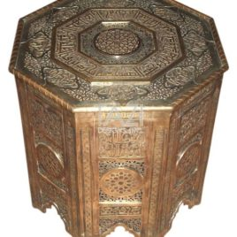 Moroccan Side Table – Brass 0009