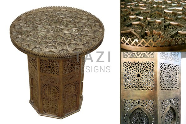 Moroccan Side Table – Brass 0016