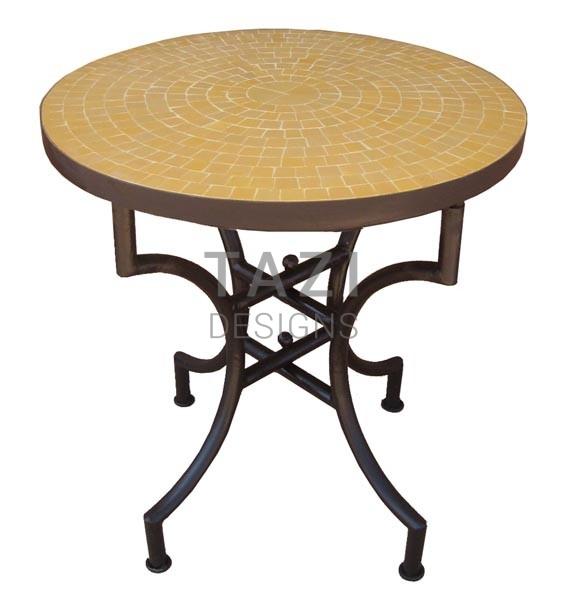 Moroccan Mosaic Table U2013 24u2033 Bistro Table In Orange Tile