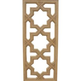 Moroccan Carved Wood Lattice Screen 3