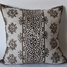 Brown Moroccan Embroidered Pillow