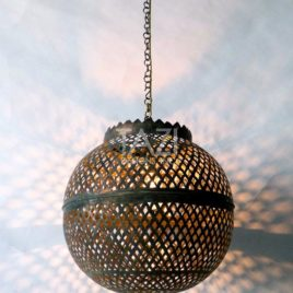 Moorish Sphere Light Pendant Fish Scale Lacework