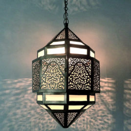Frosted Glass Moroccan Pendant Lamp