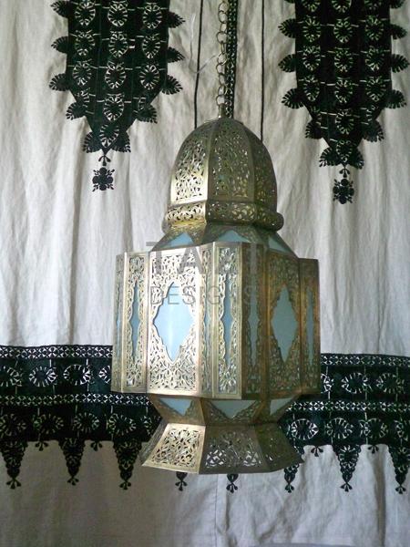 Moorish lantern in Frosted Glass