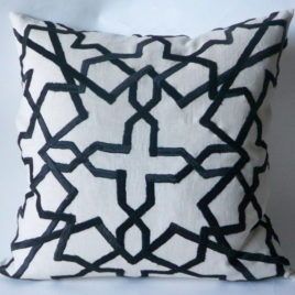 Black moroccan pillow 20