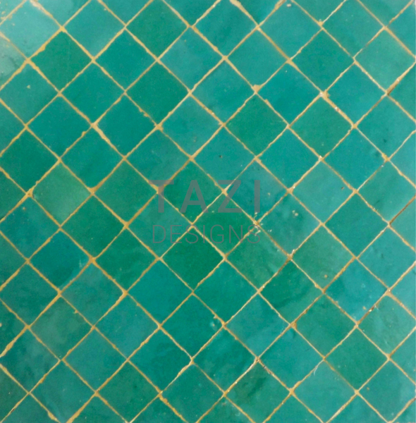 Light Green Moroccan Mosaic Tile Tazi Designs