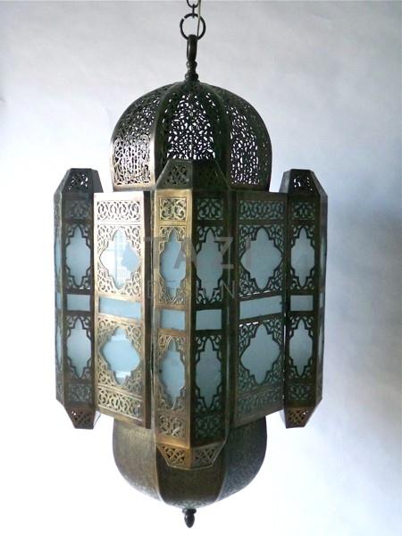 Moroccan Brass Hanging Lantern 43