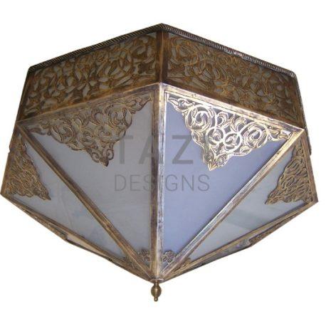 Mediterranean Ceiling Fixture – Brass Antique
