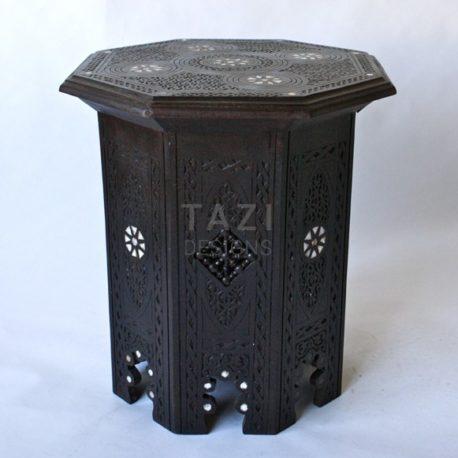 Syrian Bone – Inlay Octagonal Dark Side Table
