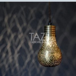 Moorish Ceiling Pendant Light – Pin Dot Bulb
