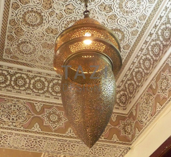 Moroccan Large Brass Chandelier Hassan