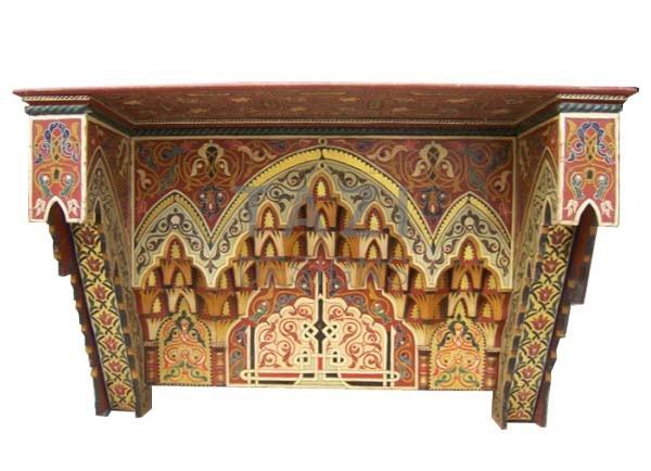 Moroccan Hand-Painted Decorative Wood Muqarnas