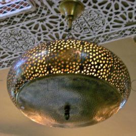 Contemporary Moroccan Hanging Lamp, Aeros