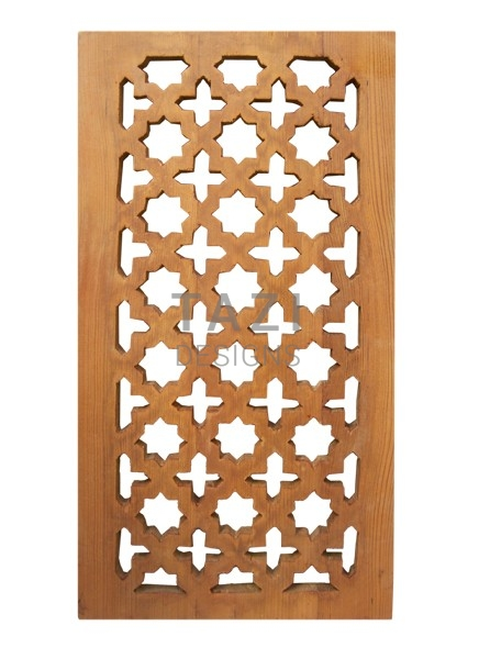 Moroccan Carved Wood Screen 1