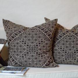 Midnight Black Moroccan Pillow