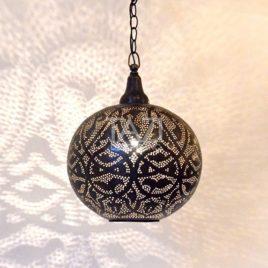Filigrain Ball Pendant Light, Forest