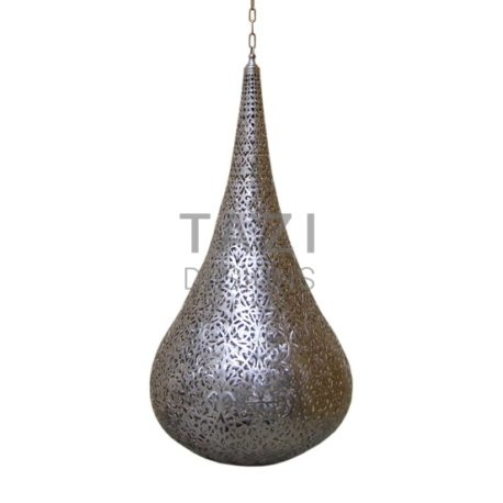 Contemporary Moroccan Pendant Light – Silver