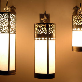Mediterranean Brass Wall Sconces