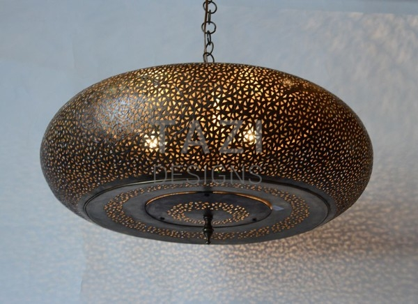 Contemporary Moroccan Hanging Lamp, Aeros Lit