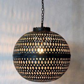 Moroccan Sphere Light – Honeycomb