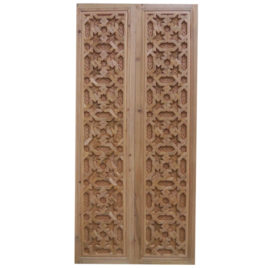 Moorish Carved Wood Door