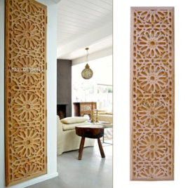 Moroccan Lattice Woodwork – Tastir Inlaid Panel