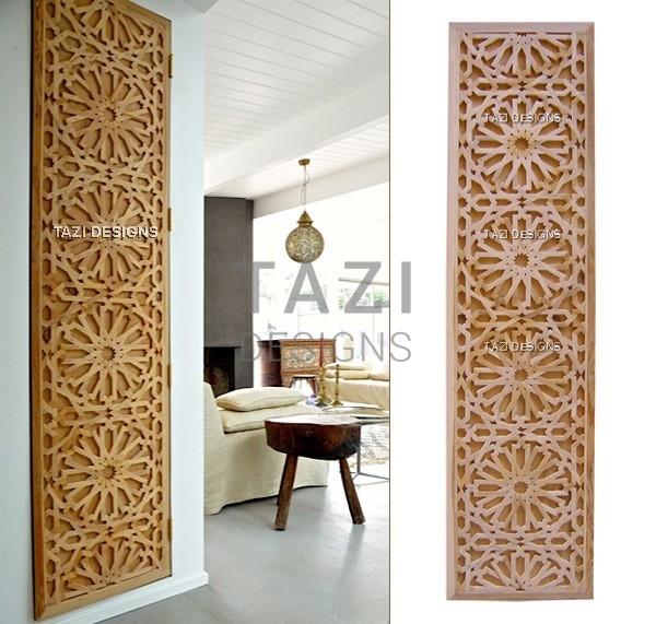 Moroccan Lattice Woodwork Tastir Inlaid Panel Tazi Designs