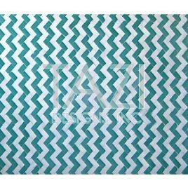 Moroccan Mosaic Table, Herringbone Green & White