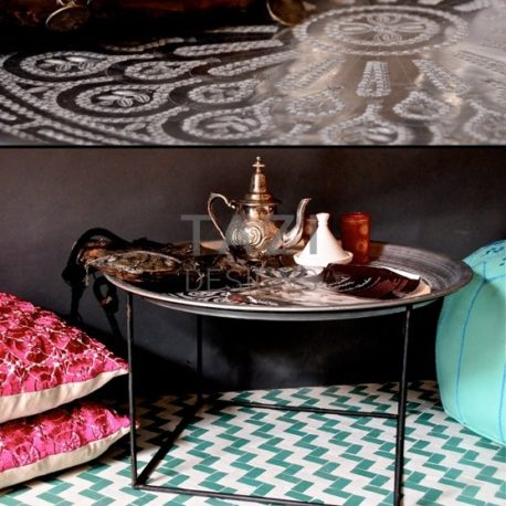 Aluminum Moroccan Tray Table