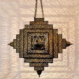 Modern Moroccan Hanging Light, Compass