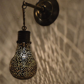 Pin Dot Bulb Contemporary Moroccan Sconce
