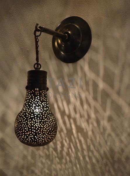 Contemporary Wall Moroccan Sconce – Pin Dot Bulb