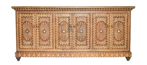 Indian Wood Inlay Buffet