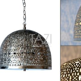 Moroccan Pendant Light – Aaliyah, Brushed Nickel