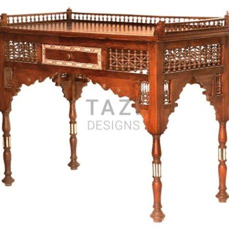 Syrian Wood-Inlay Desk
