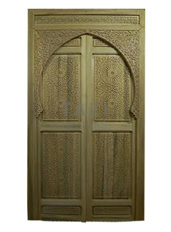 Moroccan Cedar Carved Door