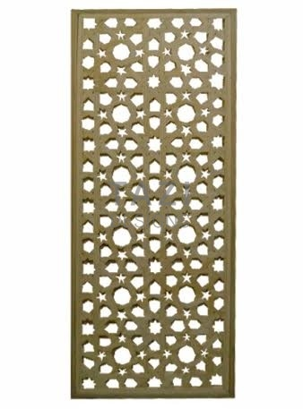 Arabesque Cedar Lattice Screen Tazi Designs