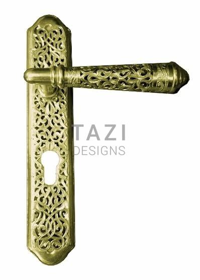 Pierced Brass Door Handle