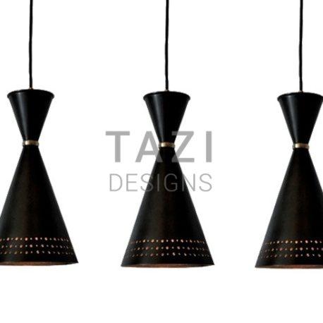 Contemporary Bronze Pendant Light, Funnel