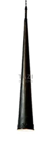 Dark Bronze Pendant Light, Long Cone