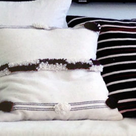 Moroccan Wool Pillows with Fringe