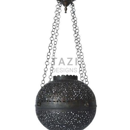Contemporary Moroccan Hanging Light, Dark Bronze