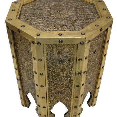 Studded Moroccan Side Table