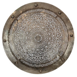 Moroccan Wall Light, Dish Nickle 40