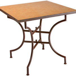 Square Bistro Table in Orange Mosaic 36